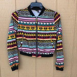 Aztec Silky Bomber Jacket with pockets